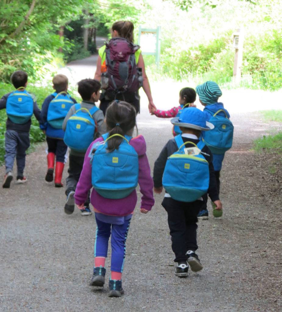 Students on a Nature School Walk